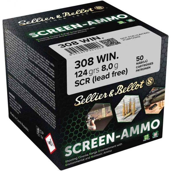 S&B - .308Win - Screen-Ammo SCR Zink - 124 grs.