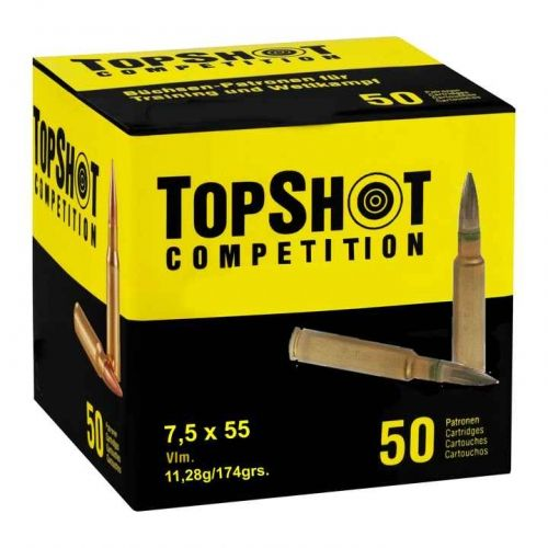 TOP SHOT - 7,5x55 swiss - 174 grain FMJ