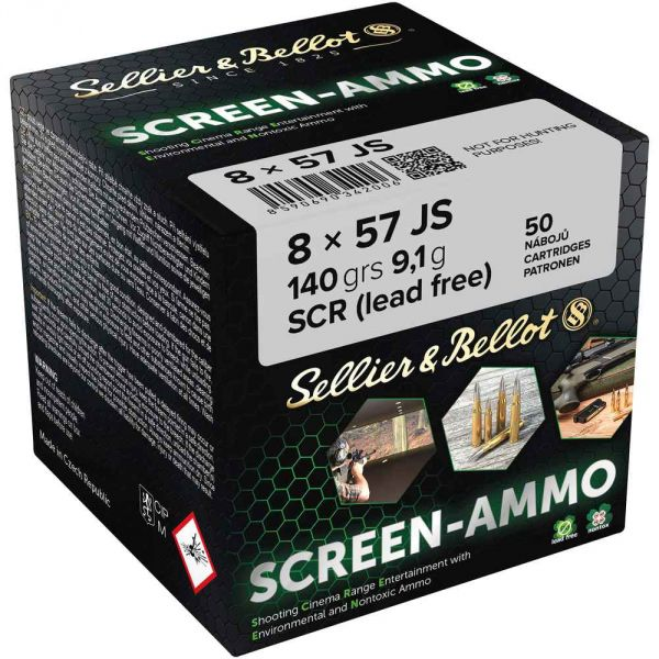 S&B - 8x57IS - Screen-Ammo SCR Zink - 140grs.