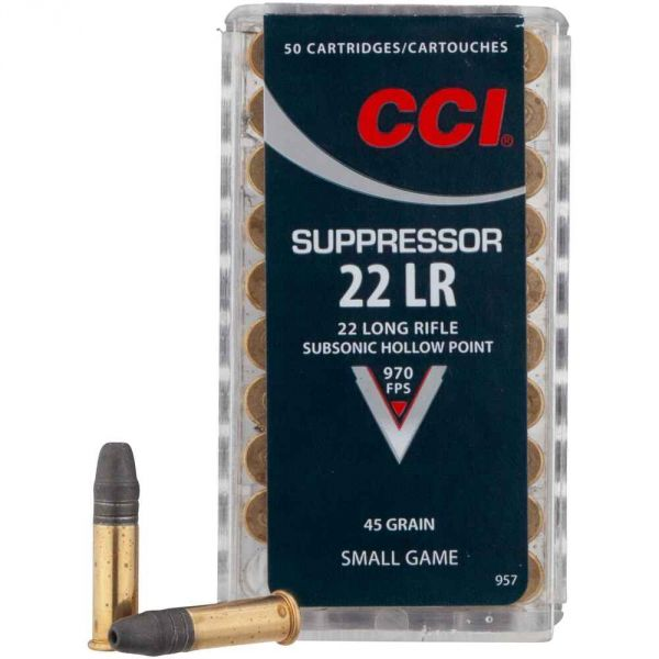 CCI - .22 lfb. Suppressor HP 45 grs.