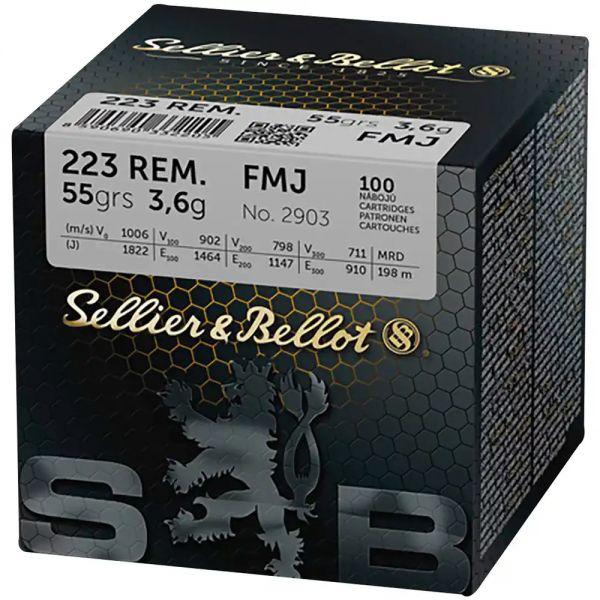 Sellier & Bellot - .223 Rem. FMJ 55grs.