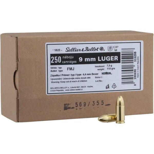 Sellier & Bellot - 9mmx19 FMJ 115grs. - 250 Schuß
