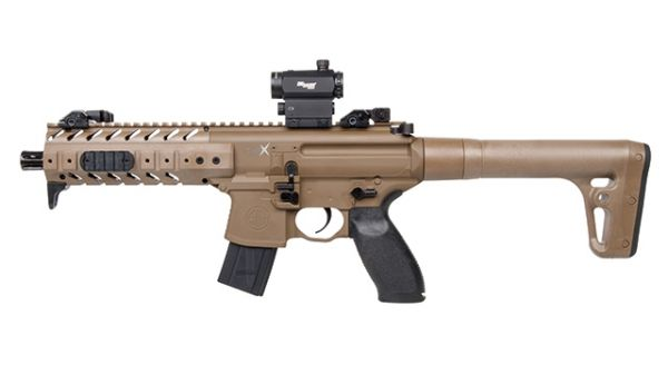 Sig Sauer - MPX Dark Earth inkl. Red Dot - 4,5mm