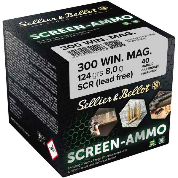 S&B - .300WinMag - Screen-Ammo SCR Zink - 124grs.