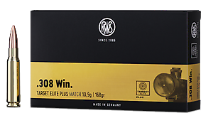 RWS - Target Elite Plus - .308 Win. - 168 grain